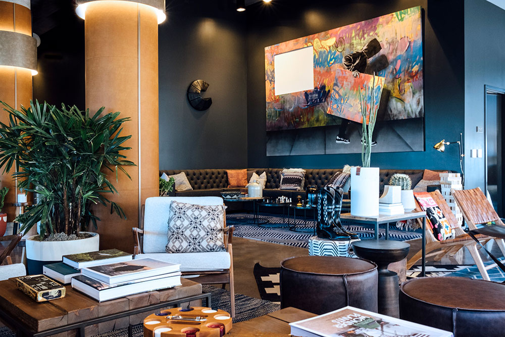MV Consulting Marcus Vahling Denver Colorado Electrical Engineers Engineering Firm Architecture Construction Metro Mixed Use Dairy Block Cherry Creek LoDo Moxy Denver Cherry Creek Boutique Luxury Hotel Logo Interior